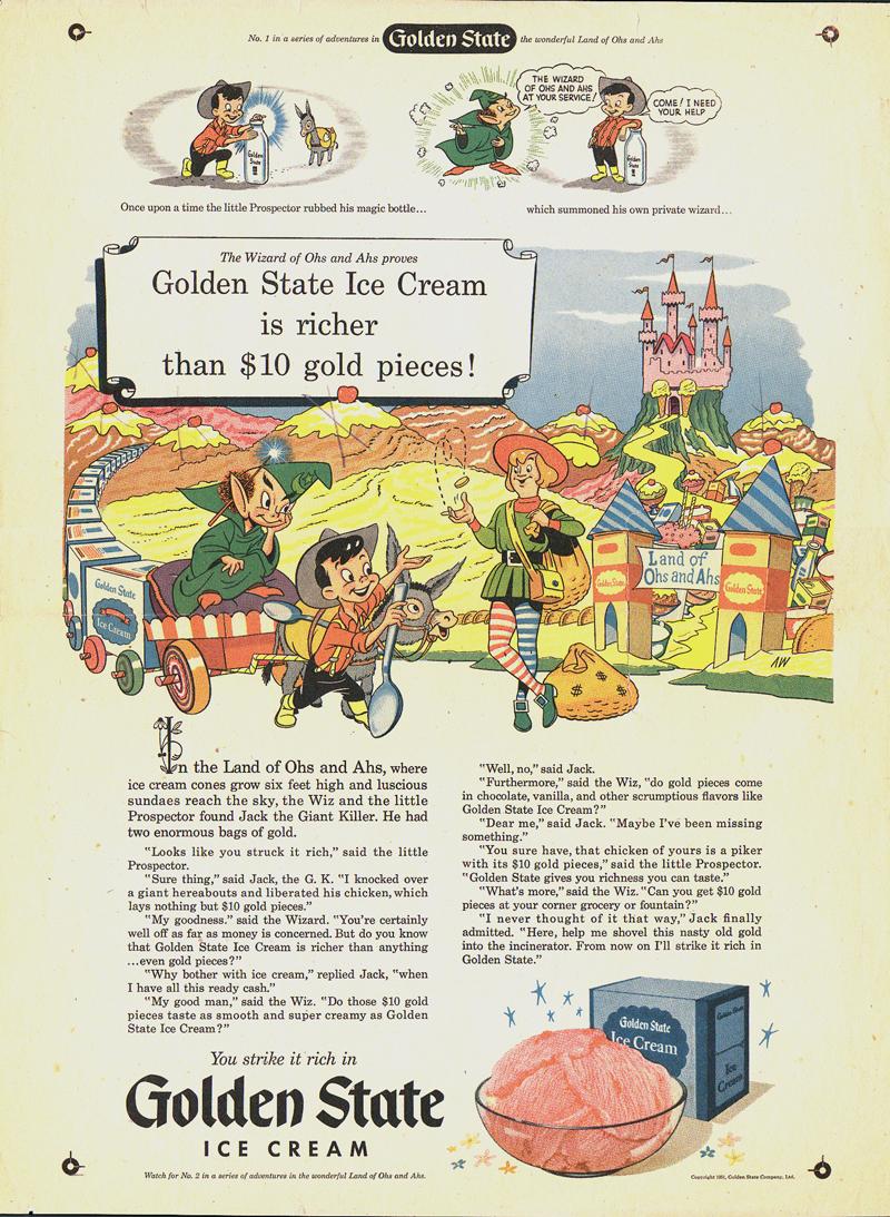 Al Wiseman Golden State Milk Ad